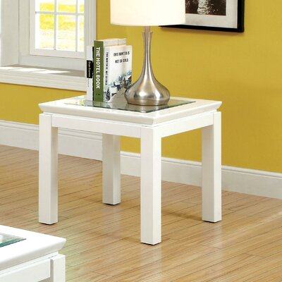 Annalee End Table Color: White