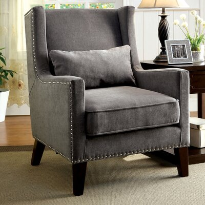 Marlow Wingback Arm Chair Color: Gray