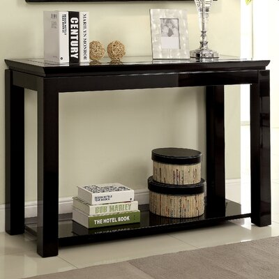 Senna Console Table Color: Black