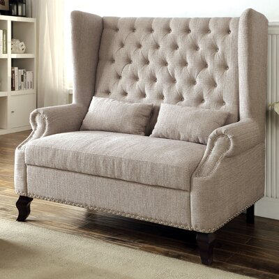 Wembley Loveseat Upholstery: Beige