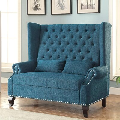Wembley Loveseat Upholstery: Teal