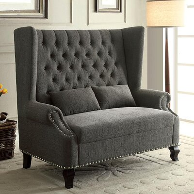 Wembley Loveseat Upholstery: Gray