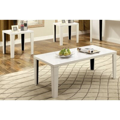Latanya 3 Piece Coffee Table Set Finish: White