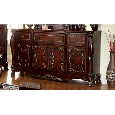 Lancaster 7 Drawer Combo Dresser with Mirror