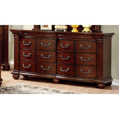 Crispin 6 Drawer Dresser with Mirror