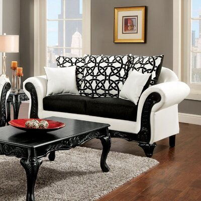 JEG-8711-MW KUI6318 Hokku Designs Reylan Transitional Loveseat