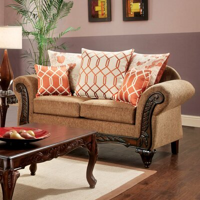 JEG-8736-MW KUI6328 Hokku Designs Pascal Transitional Loveseat