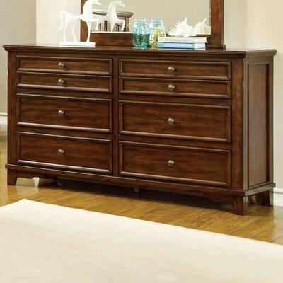 Branden 8 Drawer Dresser with Mirror