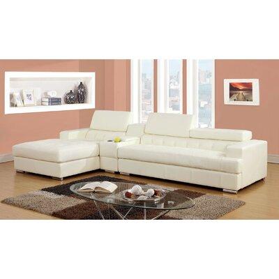 Derrikke Sectional Upholstery: White