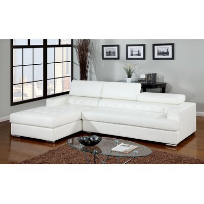 Derrikke Sectional Upholstery: White