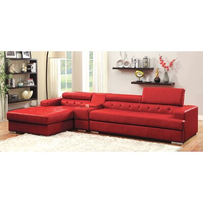 Derrikke Sectional Upholstery: Red