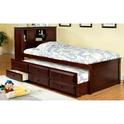 Montana Twin Captain Bed with Trundle Finish: Cherry