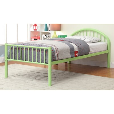 Sonya Slat Bed Size: Full, Color: Green