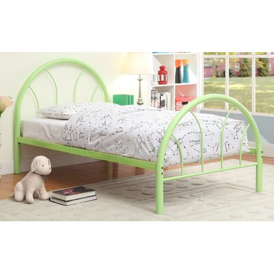 Sonya Panel Bed Size: Twin, Color: Green
