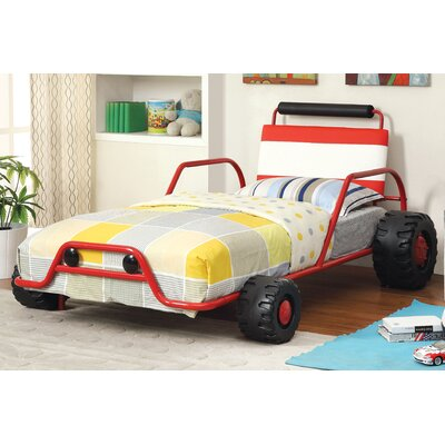 Jaymes Twin Car Bed Finish: Red