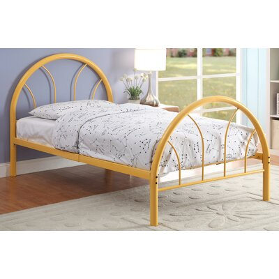 Prism Panel Bed Size: Full, Color: Orange