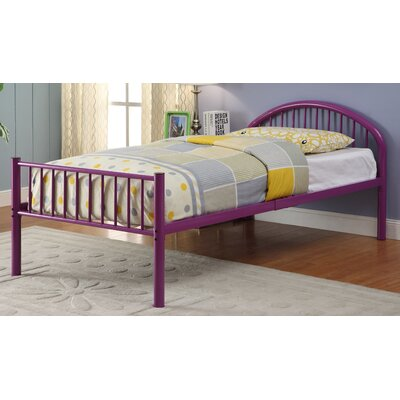 Sonya Slat Bed Size: Twin, Color: Purple