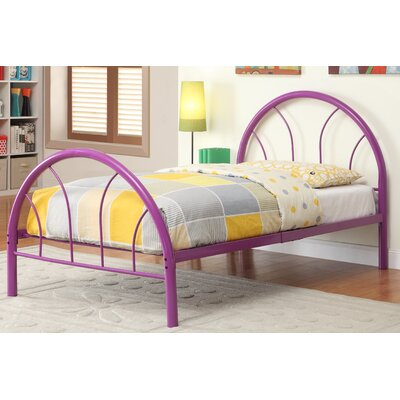 Sonya Panel Bed Size: Full, Color: Purple