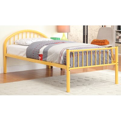 Sonya Slat Bed Size: Twin, Color: Orange
