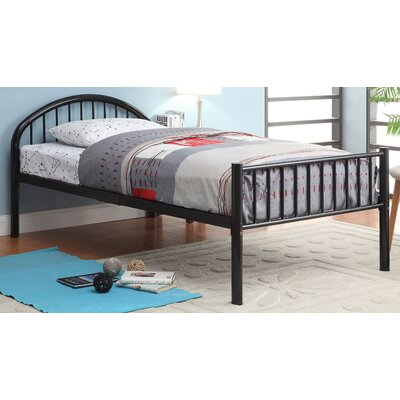 Sonya Slat Bed Size: Full, Color: Black