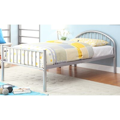 Prism Slat Bed Size: Full, Color: Silver