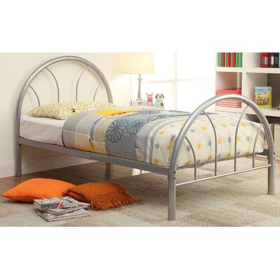Prism Panel Bed Size: Twin, Color: Silver
