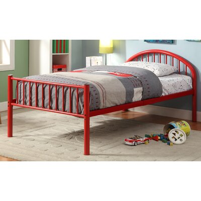 Sonya Slat Bed Size: Full, Color: Red