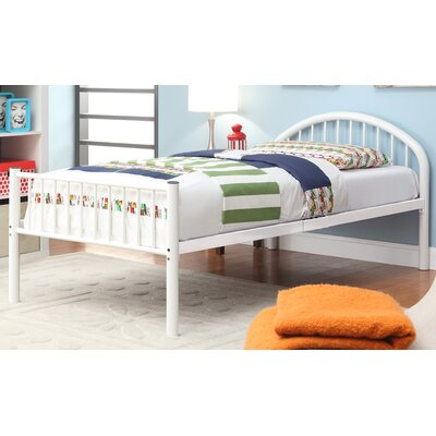 Sonya Slat Bed Size: Full, Color: White