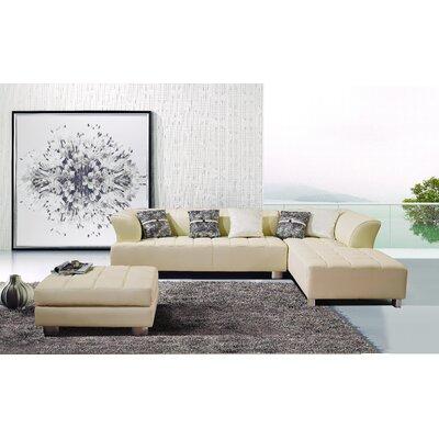 Klyne Sectional Upholstery: Ivory