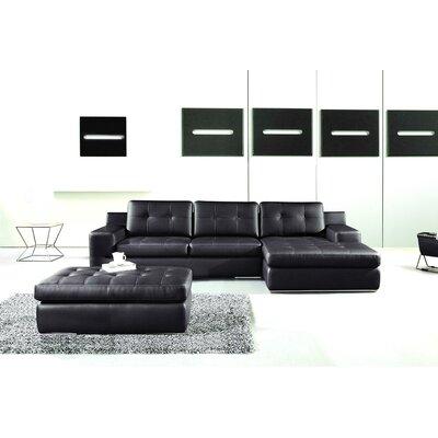 Modal Sectional Upholstery: Black