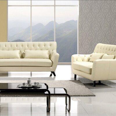 Chester Sofa Set Upholstery: Ivory