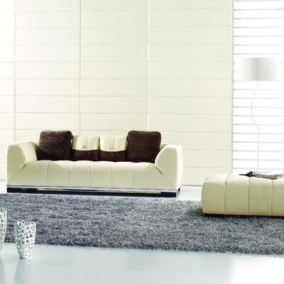 Neice Sofa with Ottoman Upholstery: White