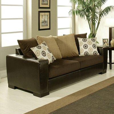 Hokku Designs Darlenne MicLiving Room Collection - Upholstery: Chocolate