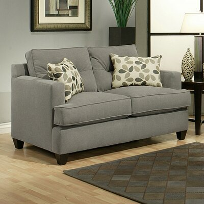 Dawn Loveseat Upholstery: Gray