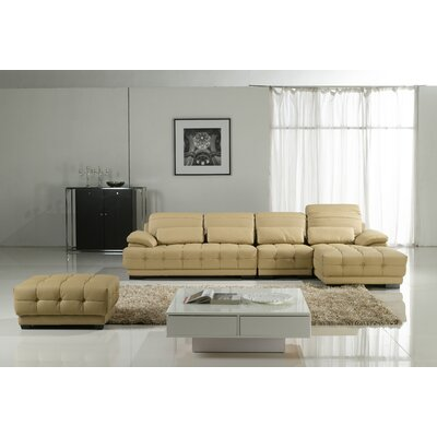 Dominon Sectional Upholstery: Camel