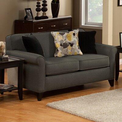 Adalia Loveseat Upholstery: Charcoal