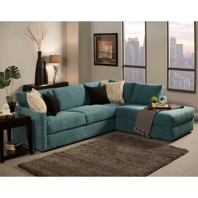 Ostala Sectional Upholstery: Peacock