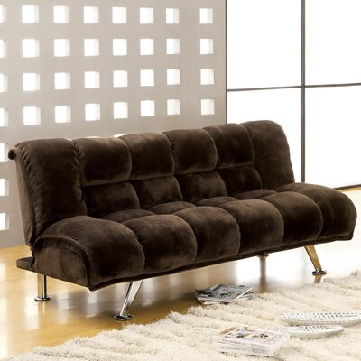 Jopelli Flannel Sleeper Sofa Upholstery: Dark Brown