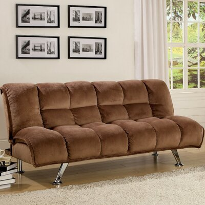 JEG-3015MU XHX1026 Hokku Designs Jopelli Flannel Convertible Sleeper Sofa
