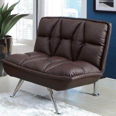 Leland Leathrette Convertible Chair