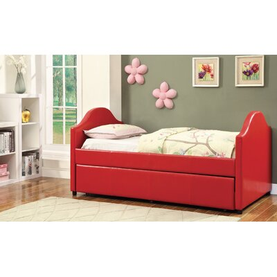 Rhine Twin Bed with Trundle Finish: Red