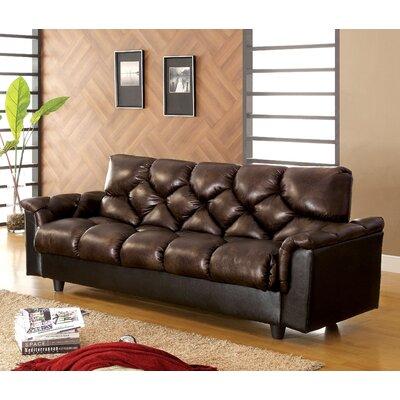 Hokku Designs JEG-3231 Carlington Leather Vinyl Storage Sleeper Sofa
