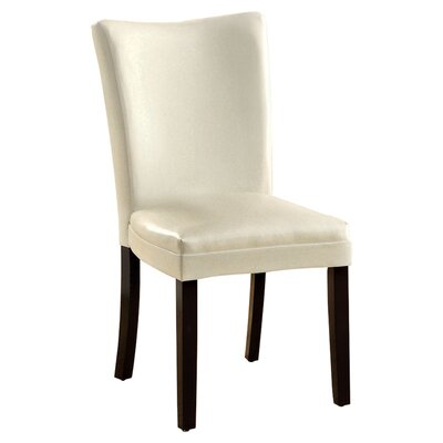 Lax Contemporary Side Chair Side Chair Upholstery: White