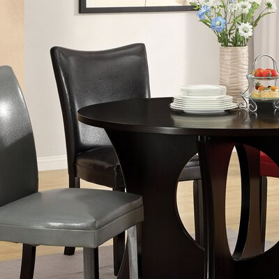 Gleaming 5 Piece Dining Set Chair Upholstery: Red