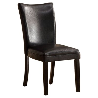 Lax Contemporary Side Chair Side Chair Upholstery: Black