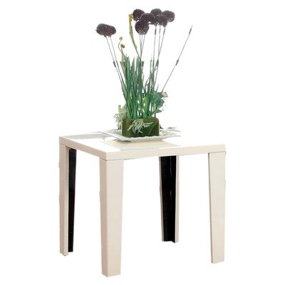 Zedd End Table Finish: White