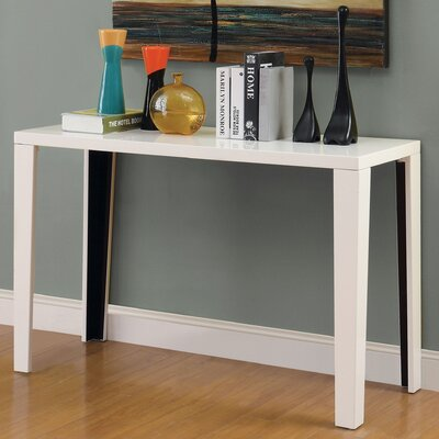 Zedd Console Table Color: White