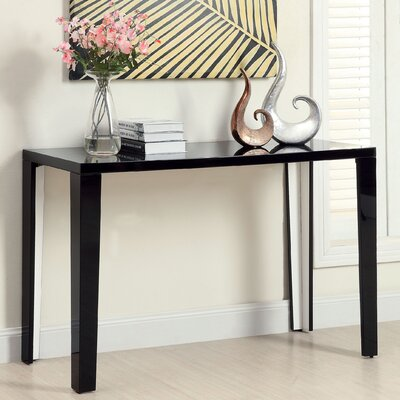 Zedd Console Table Color: Black