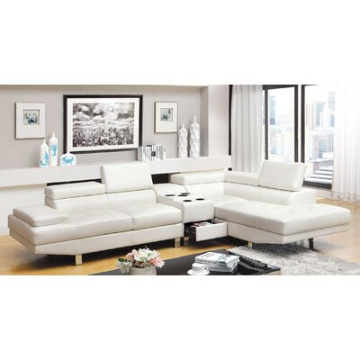 Dymitri Sectional Upholstery: White