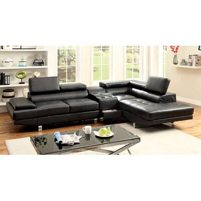 Dymitri Sectional Upholstery: Black